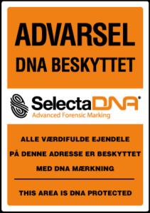 selecta-DNA-tyverimaerkningsetiket